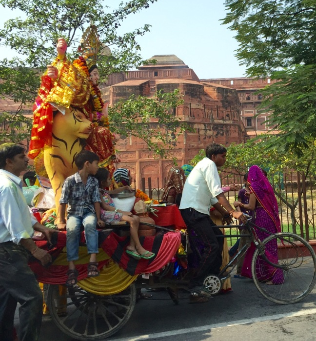 Dussehra festivities in front of The Agra Fort.