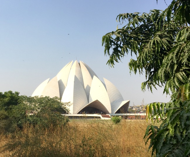 Quick peek at the Lotus Temple from afar.