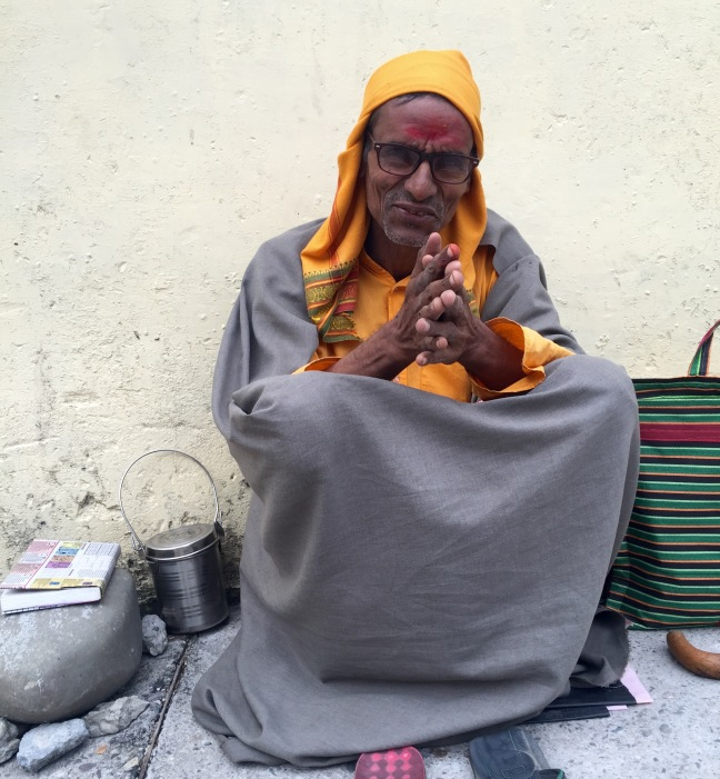 One of the men I spoke with each morning. He came to Rishikesh eight years ago because his guru told him to study here, and in spiritual pursuit he relies on the kindness of others for food and shelter.
