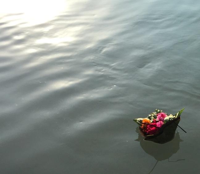 Gratitude, floating downstream.