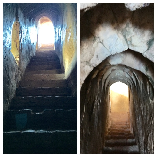Secret stairwells. What goes up, must come down...