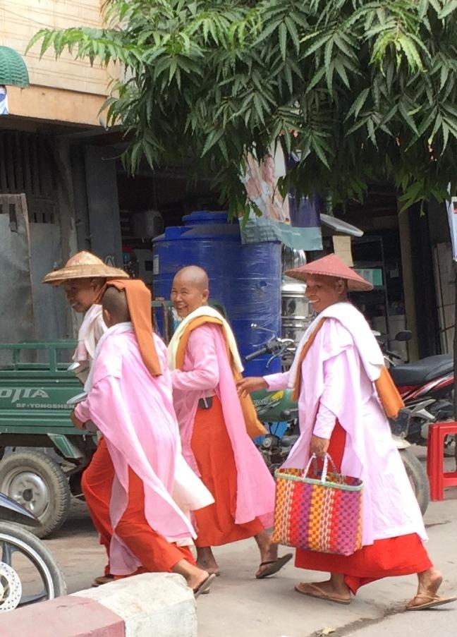 Buddhist nuns.