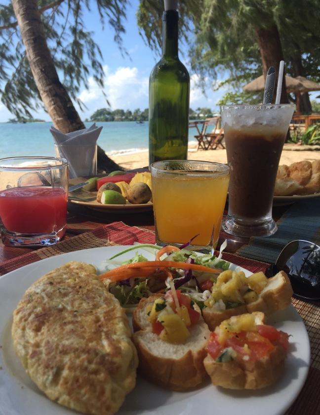 Beach breakfast goodness.