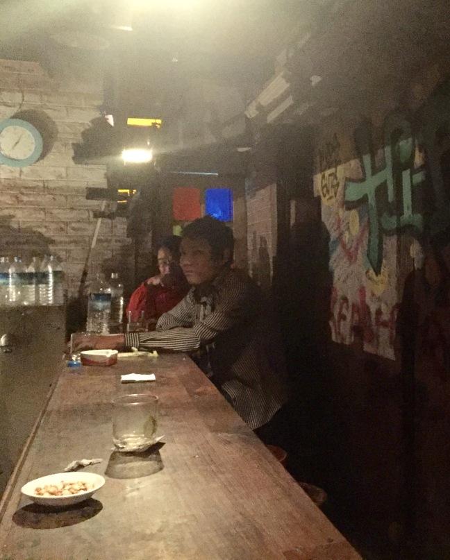 Inside 'Hi, Drink and Snack' bar.