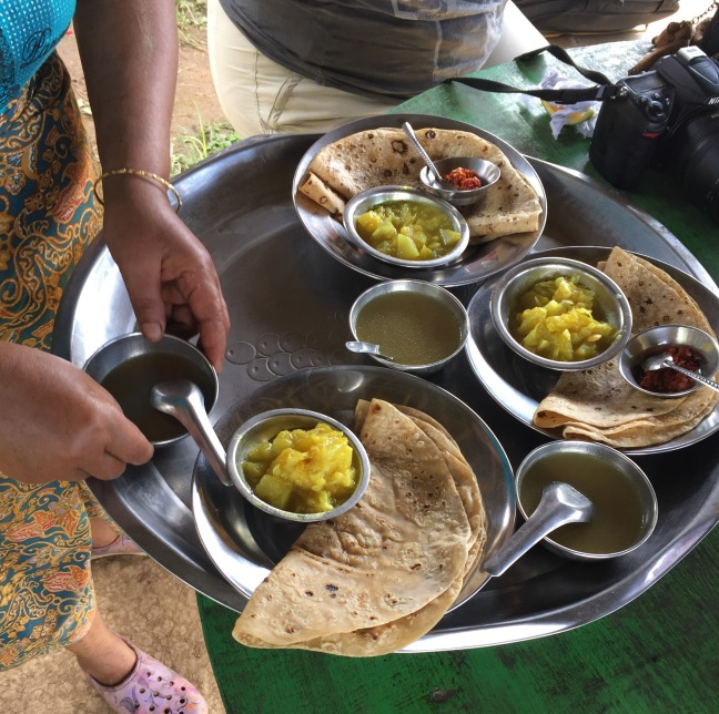 Delicious lunch,and for a moment I feel like I'm back in India!