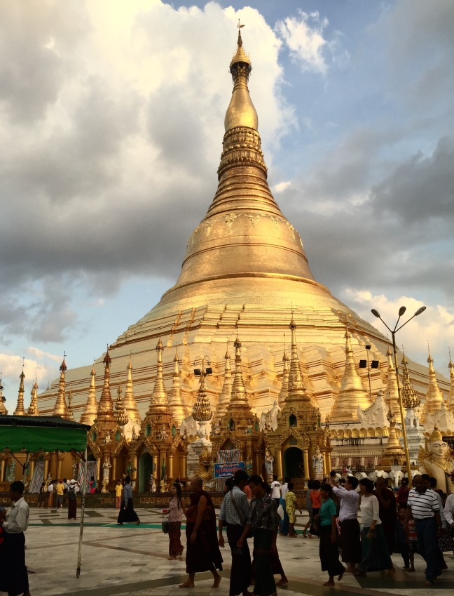 The stunning Shwedagon Pagoda