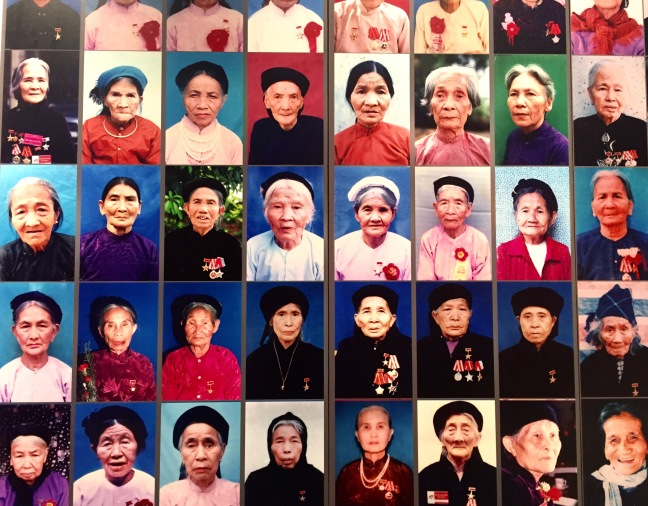 This exhibit, at the Vietnamese Womens Museum, was a huge floor to ceiling gallery honoring all the women who contributed to war effort. So many faces, each telling a heartbreaking story.