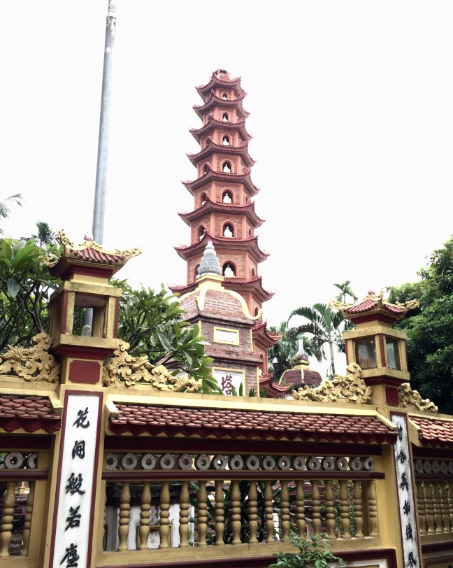 Around 1400 years old, the Tran Quoc Pagoda is the oldest temple in Hanoi.