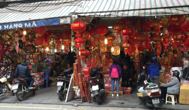 Lanterns for sale.