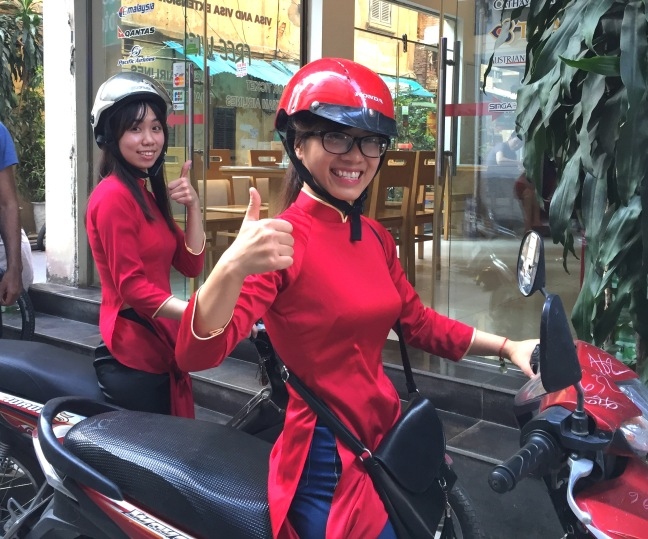 Lucy and Hoai, our lovely guides on a motorbike tour of the city... a fantastic way to see the sights, explore different neighborhoods to try the local specialties (like the famed egg-coffee!) and get a sense of what it's like to really be in Hanoi traffic.