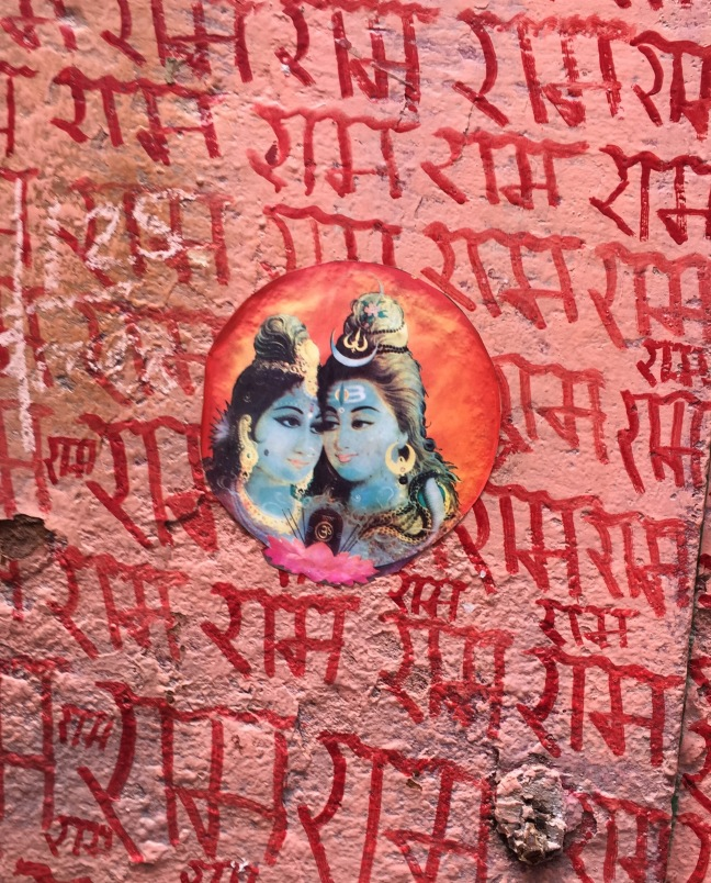 Lords Shiva and Shakti meet urban art