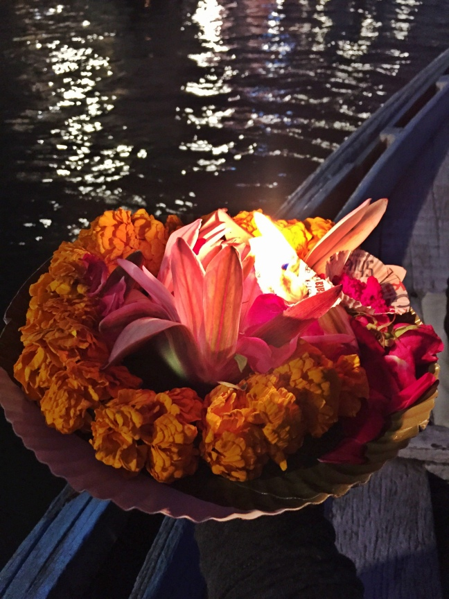 Candlelit offerings to Mother Ganges