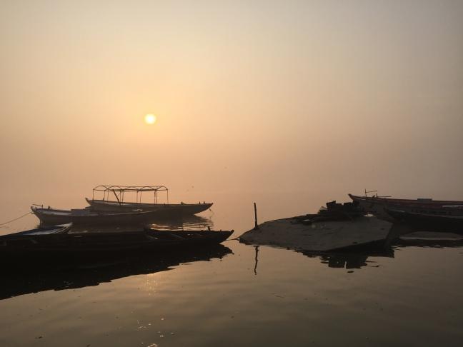 A peaceful moment at sunrise.
