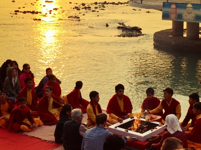 The evening prayer ritual on the Ganges, known as aarti